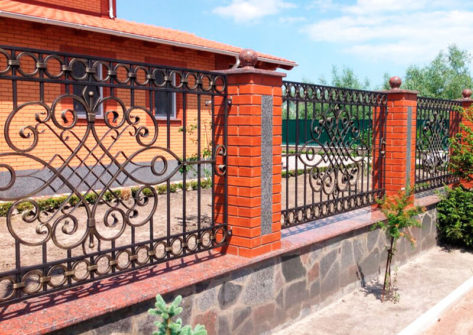 забор ковка металл