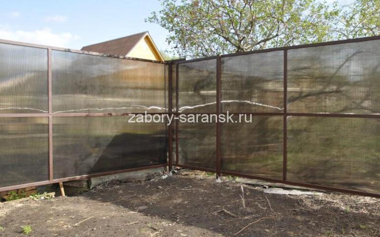 забор из поликарбоната в Саранске