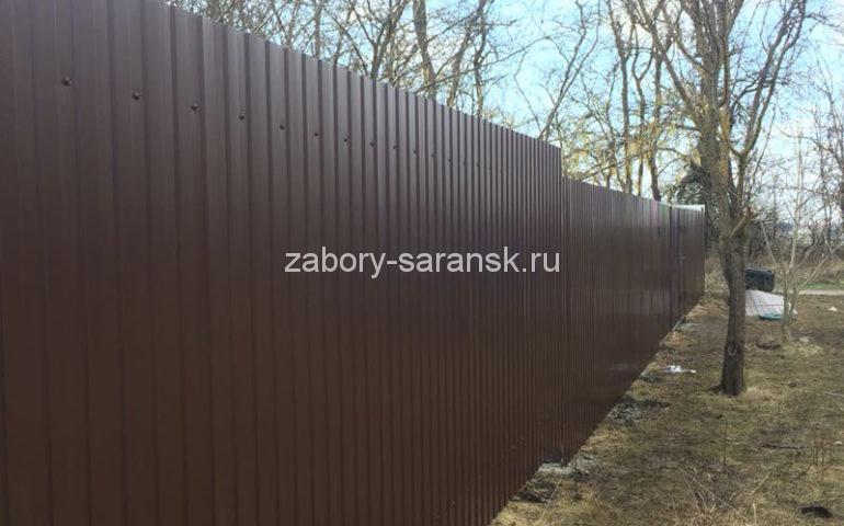 забор из профлиста в Саранске